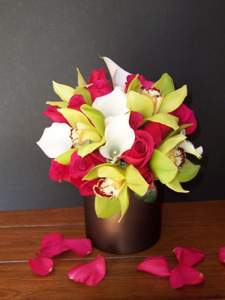 Orchid, Calla & Lily Centerpiece
