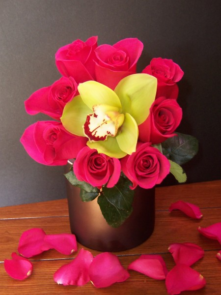 Rose & Orchid Centerpiece