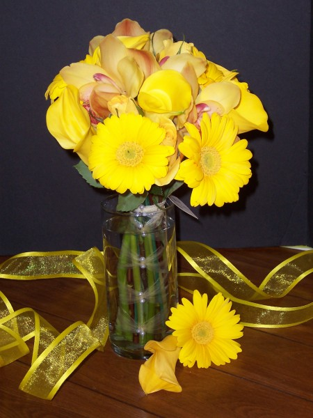Absolutely Gorgeous Yellow Wedding Bouquet