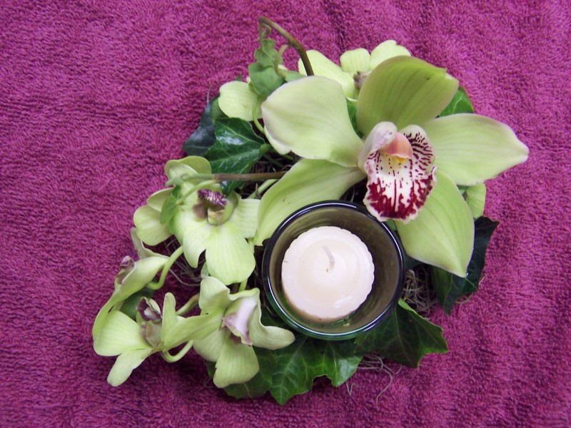 Orchid Candle Centerpiece