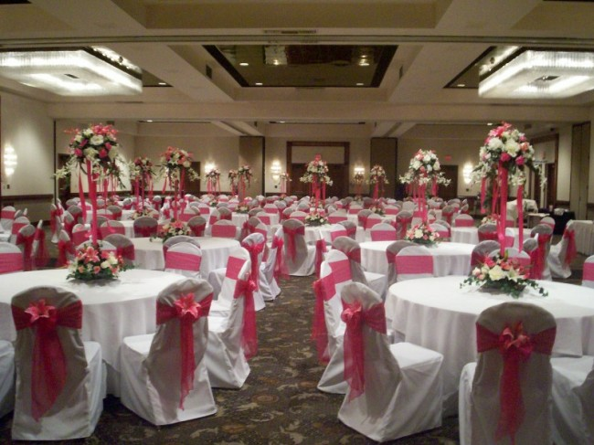 Photo Gallery - Party Risers Centerpieces in Fuschia