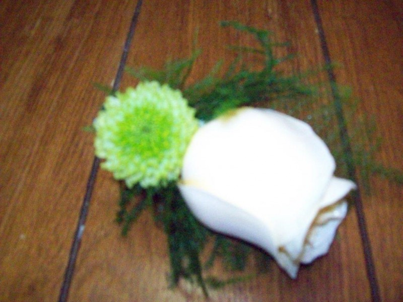Ivory Rose Boutonniere