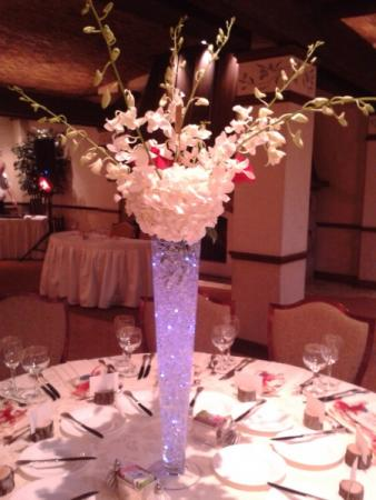 Tall Wedding Reception Centerpiece