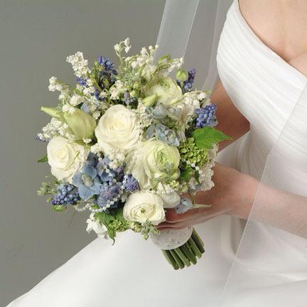Blue & Ivory Wedding Bouquet
