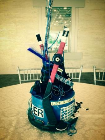 Hockey Themed Centerpiece