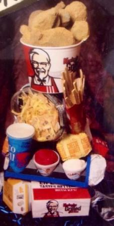 Fast Food Themed Centerpiece