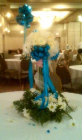 Blue & White Party Centerpiece