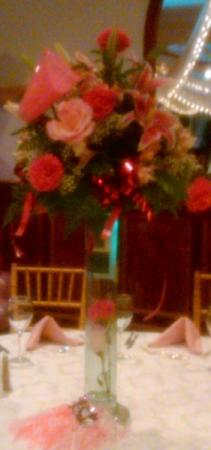 Pink Event Centerpiece