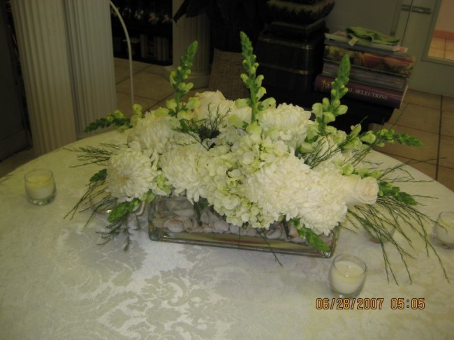 Tall hydrangea centerpieces love the idea of table