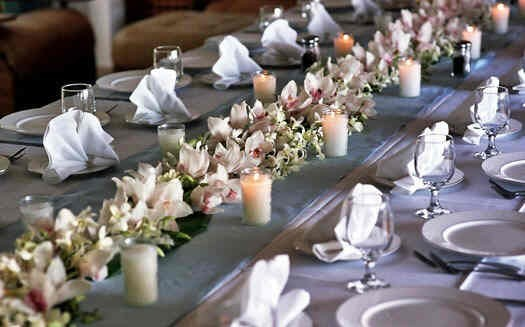 Creating wedding reception centerpieces for tables that seat 10 or more