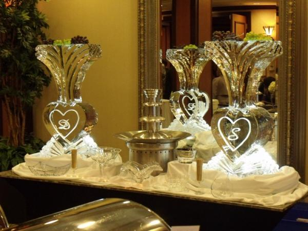 Heart Vase Ice Sculpture