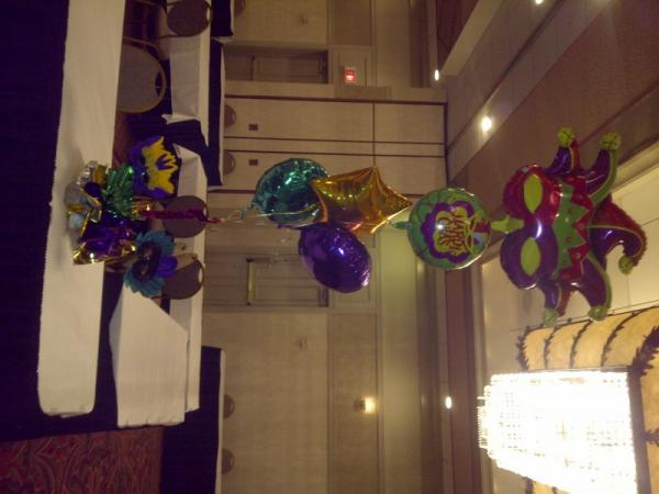 Mardi Gras Center piece