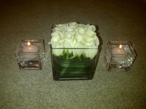 Reception Centerpiece White Flowers