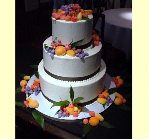 Photo Gallery Sugared Marzipan Fruits Wedding Cake