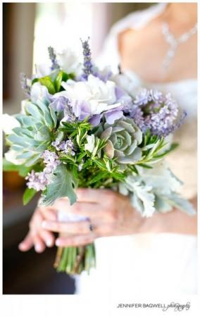 Bridal Bouquet in Lilac