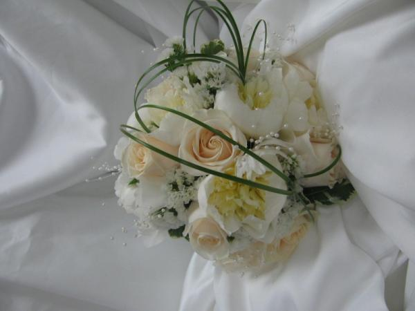 Cream Colored Flowers With Pearls