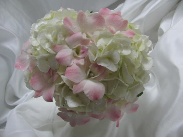 Blush Flowers With Pearls