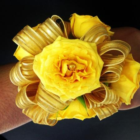 Golden Yellow Corsage