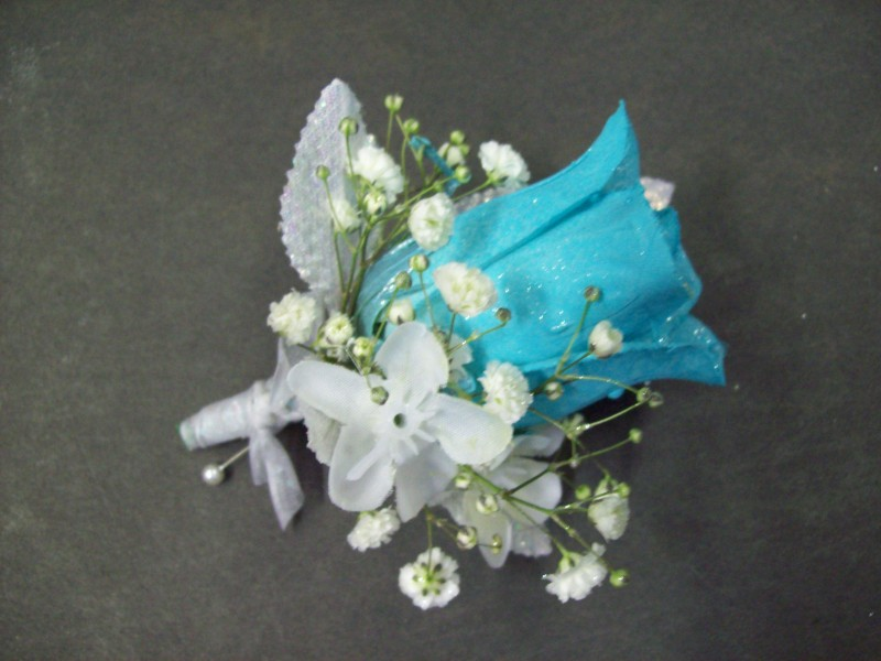 Turquoise Sparkle Boutonniere
