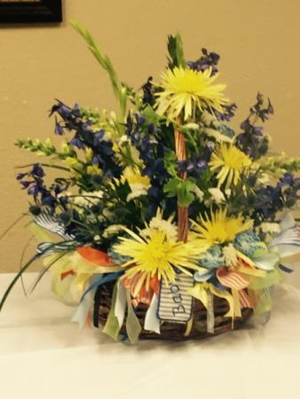 Flower Basket For The Baby Shower