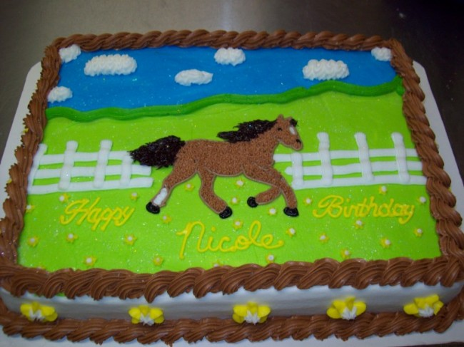 "Horse Birthday Cake Share. ""Happy Birthday Nicole!"" Nicole gallops her way"