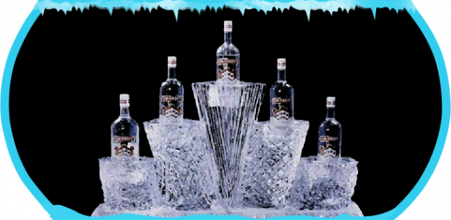 Bottle Cooler Ice Sculpture