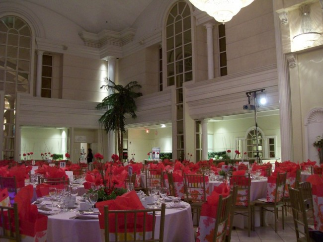 Atmospheric Red Wedding Reception Share