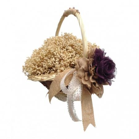 Country Charm Flower Basket
