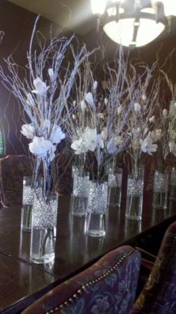 Winter Themed Centerpieces