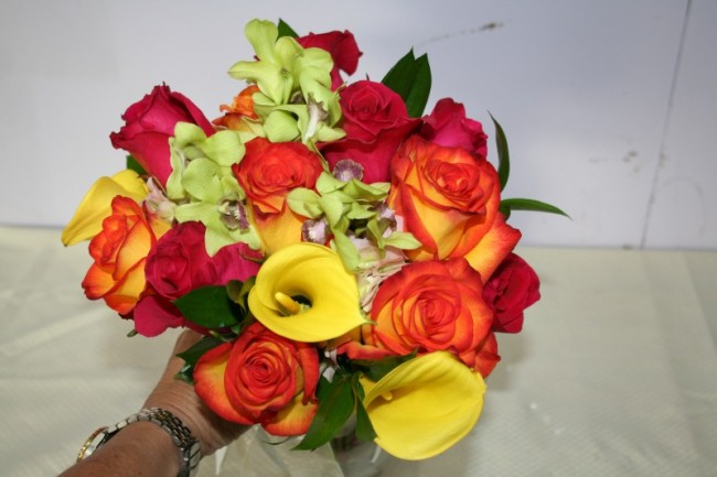 Wedding Bouquet Preservation Hawaii : Photo gallery tropical mixed round hand tied bouquet