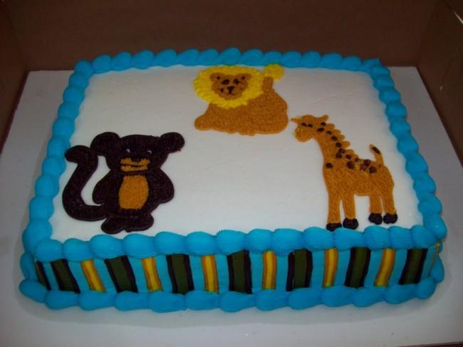 photo gallery animal baby shower cake