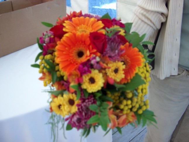 Wedding Bouquet Of Gerbera Daisies : Photo gallery gerber daisies fall wedding bouquet