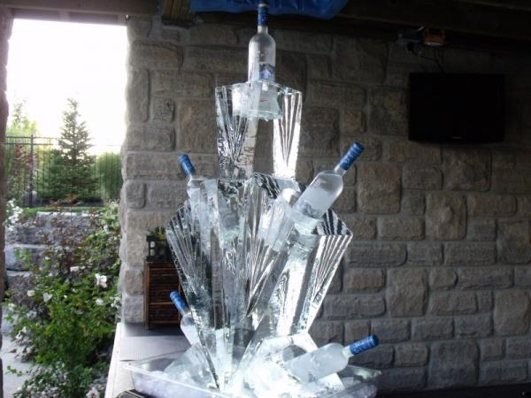 Bottle Ice Sculpture