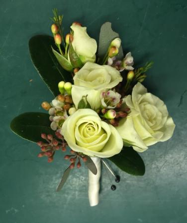 Green Style Boutonniere