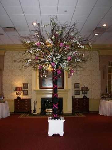 Orchid & Rose Tree for Reception personal