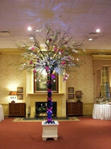 Orchid and Rose Tree Reception Centerpiece personal