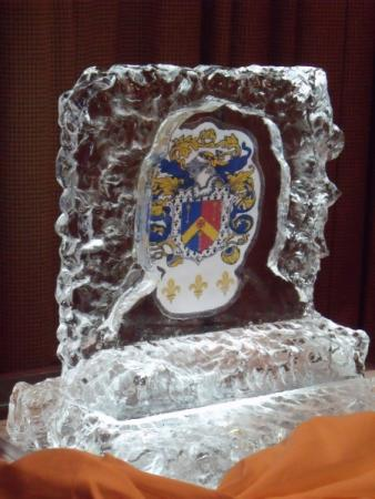Crest Inside Ice Sculpture
