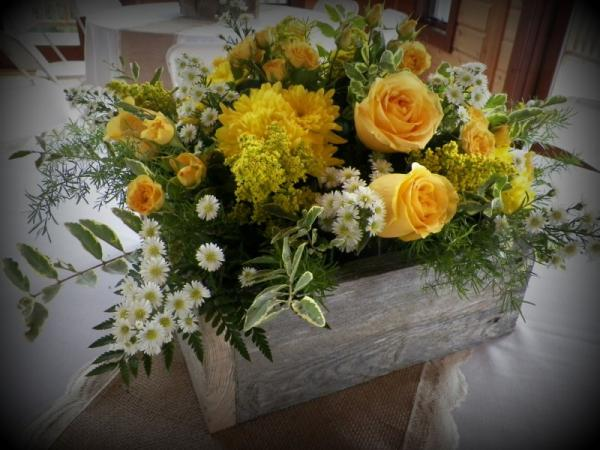 Box of Yellow Flowers