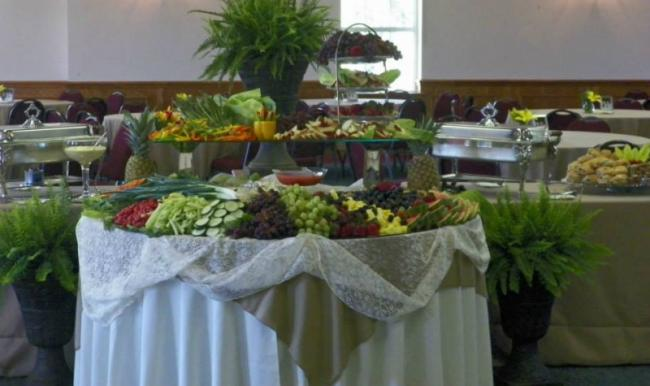 Two Tiered Vegetable Table