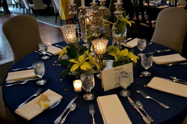 Navy Reception Table