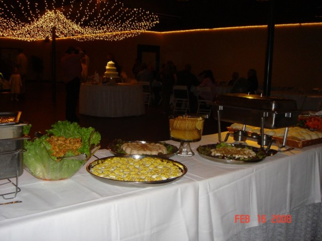 Food Table At Wedding Reception
