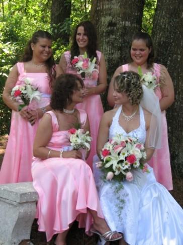 Bubblegum Pink Bridesmaid Dresses
