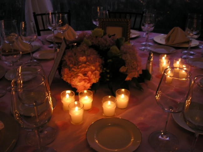 Hydrangea centerpieces for wedding receptions are gaining popularity with