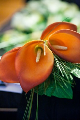 Orange Calla Lily Bridal Bouquet Funmi Adeshina