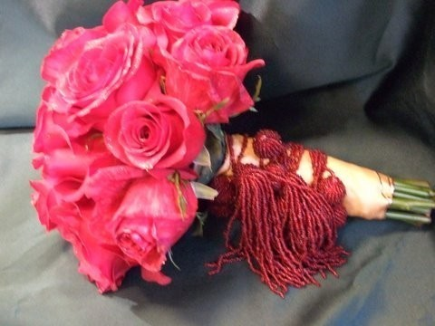 Fancy Hot Pink Roses Bridal Bouquet  personal