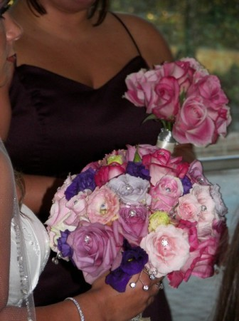 Pinks, Purples, and Bling Bouquet Personal