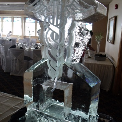 Ice martini luge