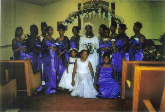 Wedding Party In Blue Bridesmaids Dresses personal