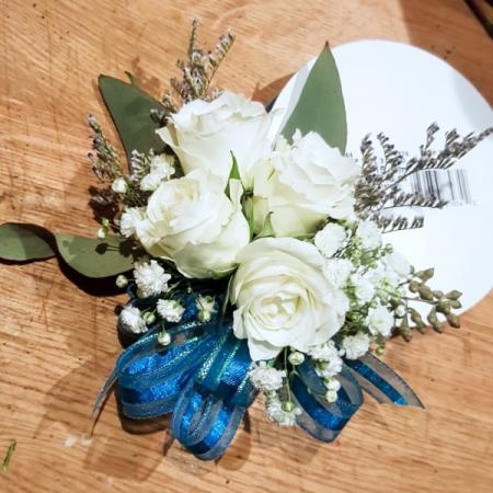 white rose romantic vintage corsage