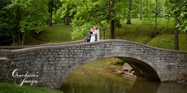 Bride & Groom on Bridge